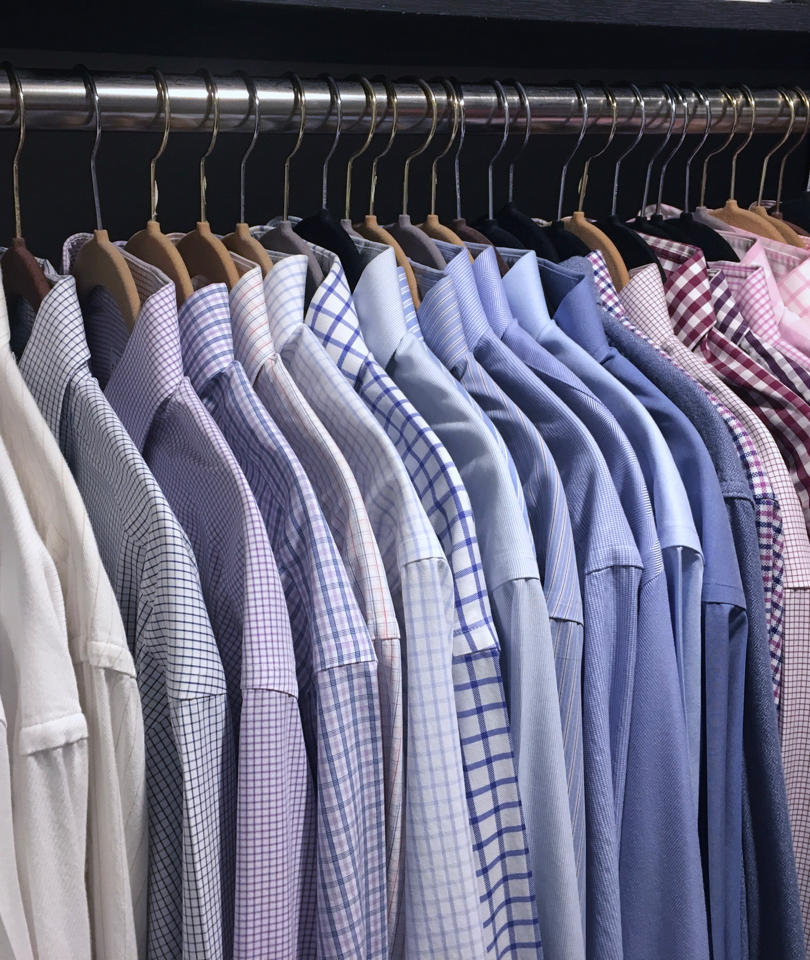 Men's dress shirt closet