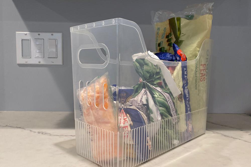 freezer organization bin Container Store multiple purpose bin