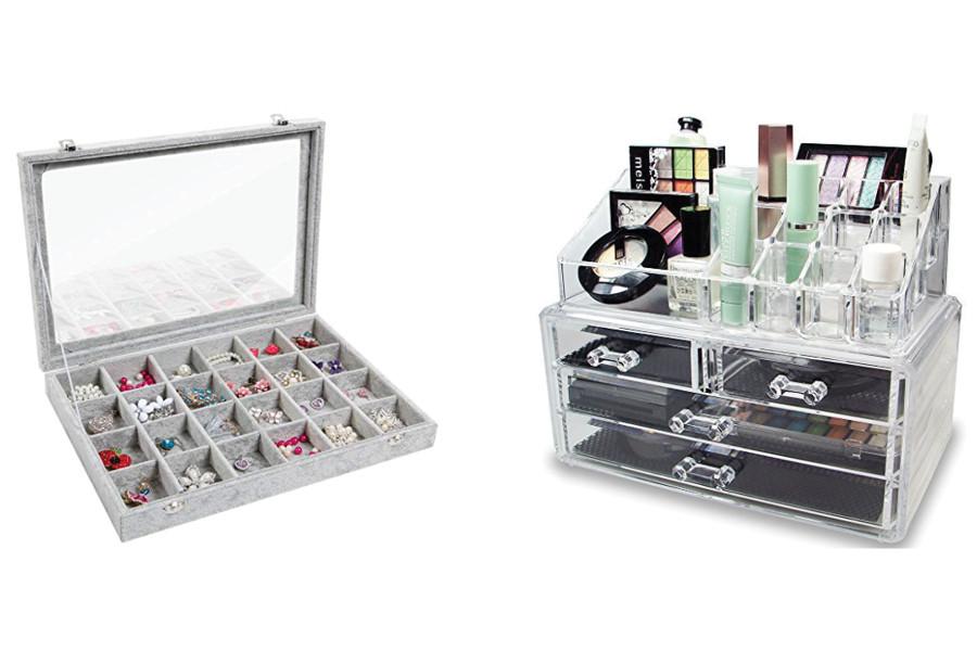 how to organize jewelry, how to organize makeup, professional organizer