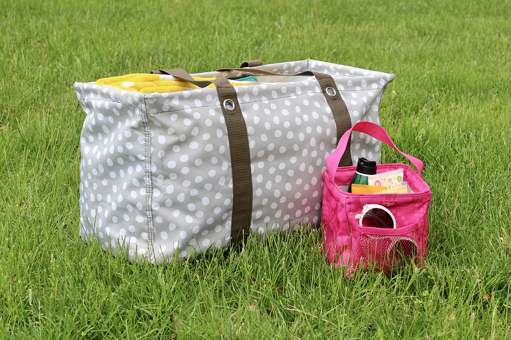 summer organization tips; thirty-one bags; sunscreen recommendations