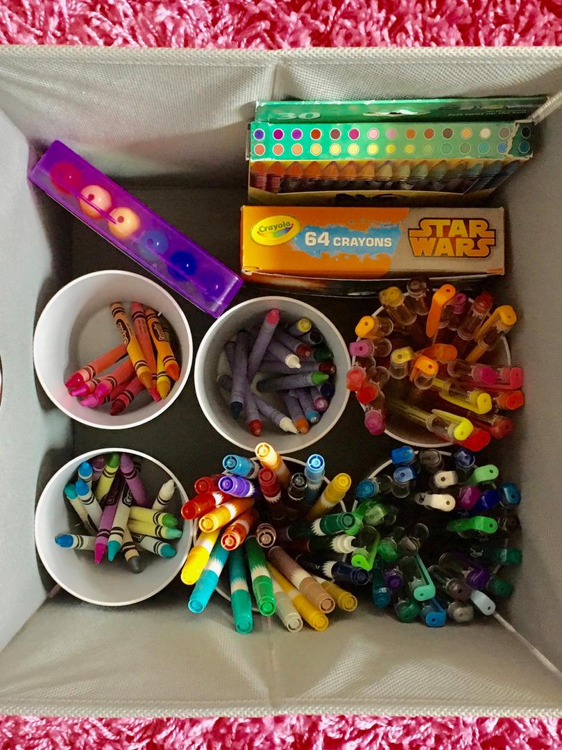 art supply storage bin