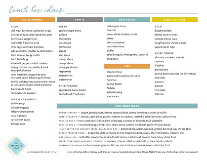 AnOrganizedStart_lunch ideas printable.j