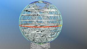 Sphere steel support