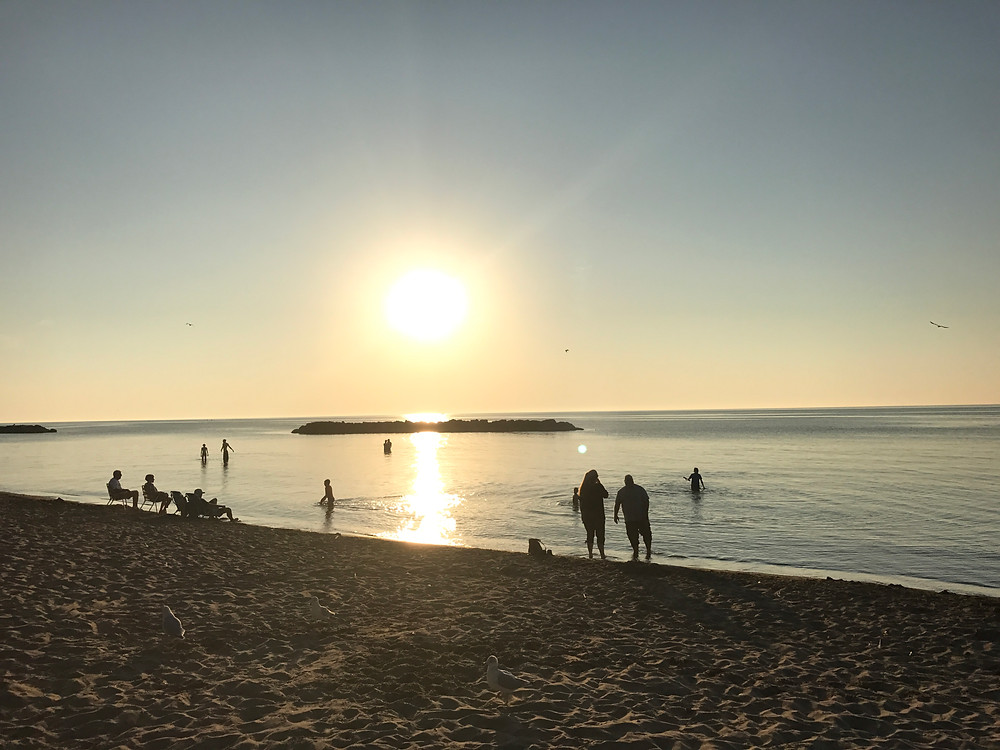 Sunbathing in the Nude - Picture of Presque Isle State