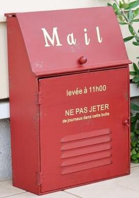 フレンチシャビー レッド メールボックス