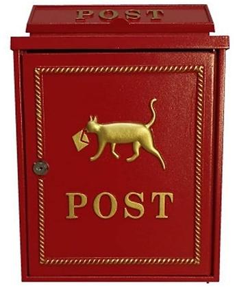 配達猫メールボックス ロックウォール