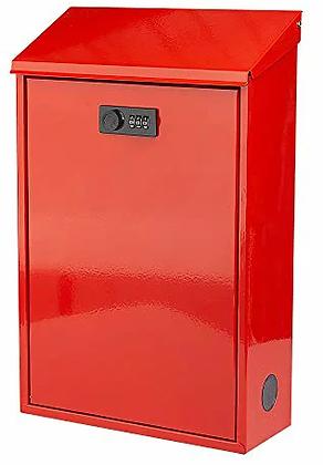 メールボックス スチール樹脂塗装 (レッド)