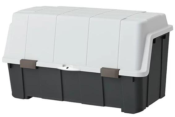大きく開くコンテナー140L/チャコールグレー
