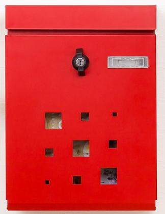 カバポスト 壁掛け ひねり簡易ロック 大型ポスト(M18GHI)