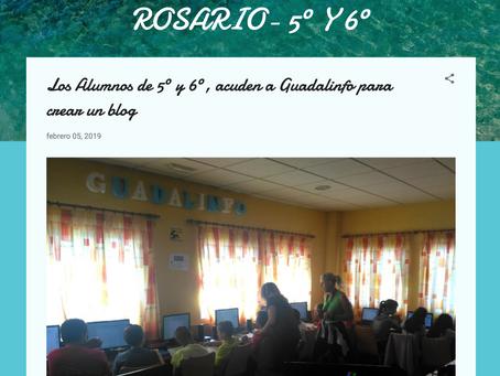 Los alumnos crean un blog en Guadalinfo