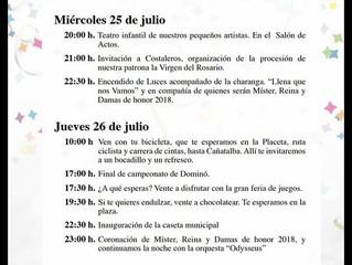 Fiestas Virgen del Rosario 2018