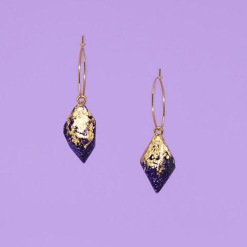 Small Purple Glitter Crystals