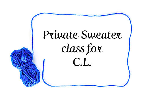 Private Sweater class for C.L.