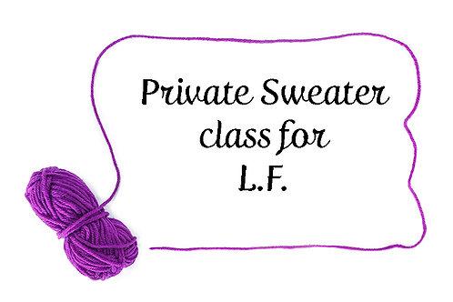 Private Sweater class for L.F.