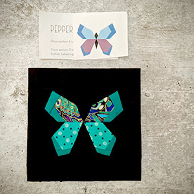 Intro to Foundation Paper Piecing - Butterfly Charm Block VIDEO CLASS (May 2021)