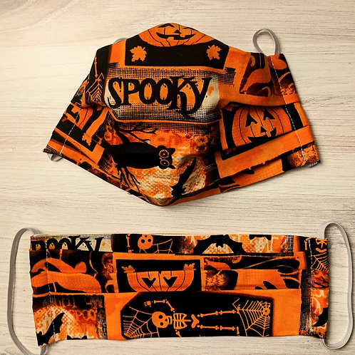 Fabric Mask - Spooky Stamps
