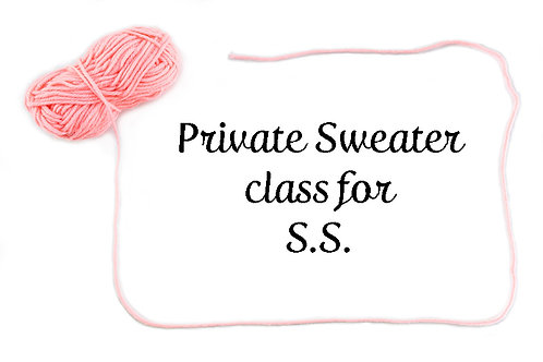 Private Sweater class for S.S.
