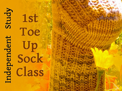 1st Toe Up Sock Independent Study Class