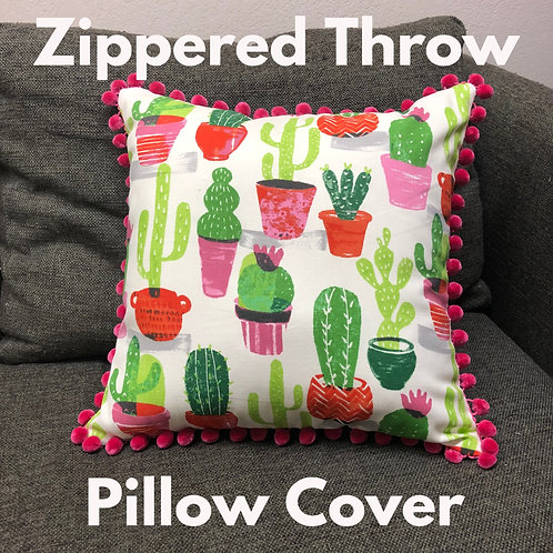 Zippered Throw Pillow Cover