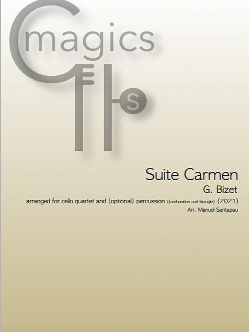 Suite Carmen, G. Bizet - for cello quartet and [optional] percussion