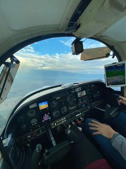 N33JX Interior Flight