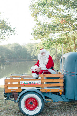 Santa session with vintage truck