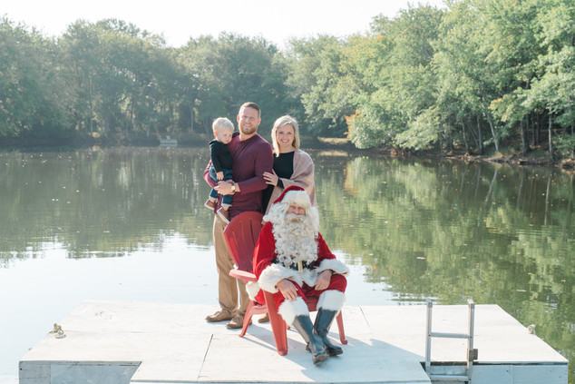 Santa session on the lake