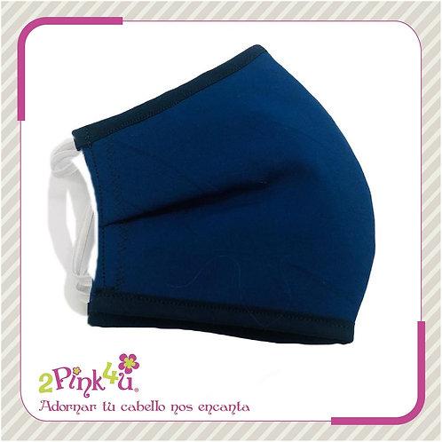 Cubrebocas azul marino