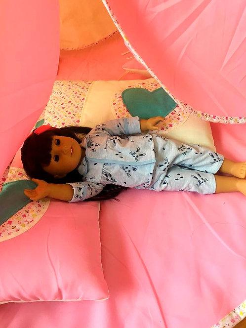 Pijama Azul para Muñecas