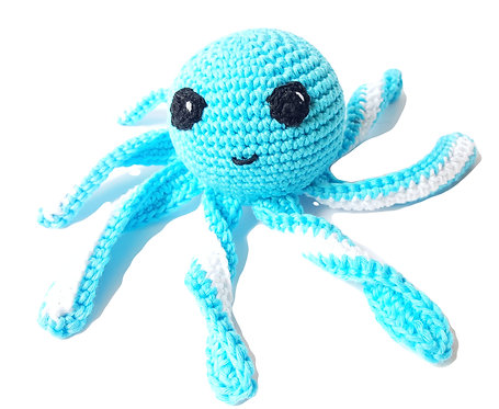 Bebé Pulpo Azul Tejido