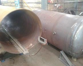 air receiver sub arc welding