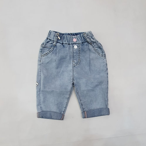 Girls Denim Quarter Pants