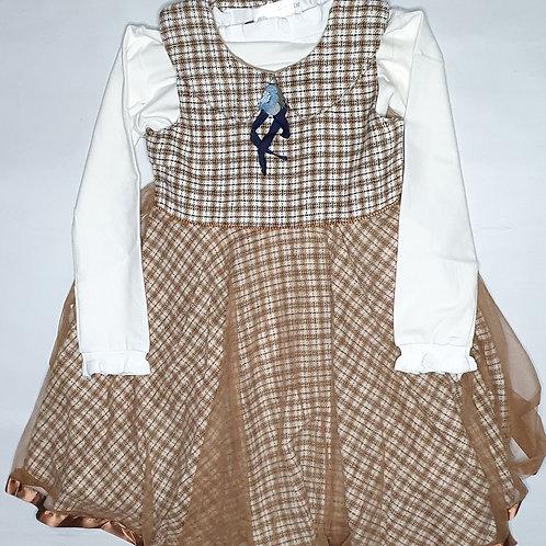 Girls Woolen Frock (With Full T.Shirt )