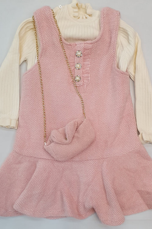 Girls woolen frock with sweater