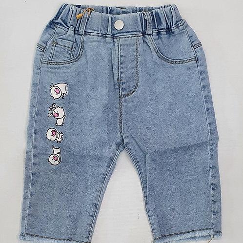 Girls Denim quater pants