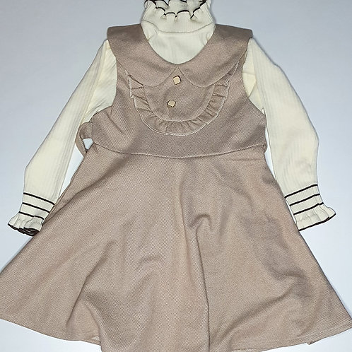 Girls One Piece Frock With  T- Shirt And Belt