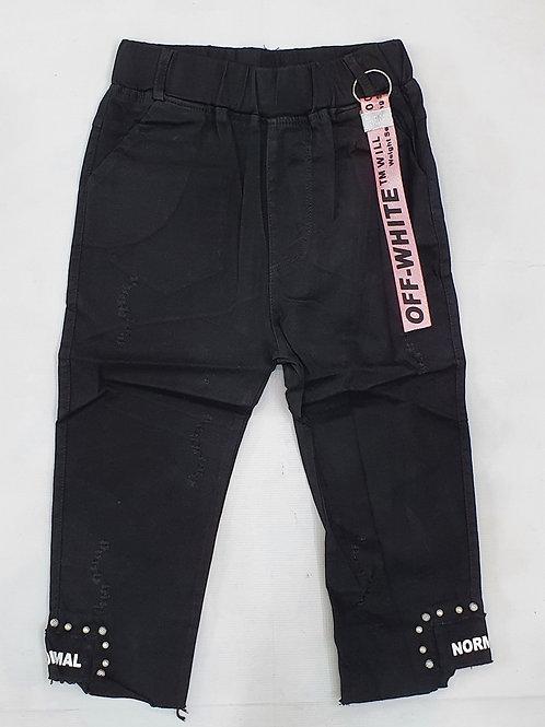 Girls Black Quater Pants