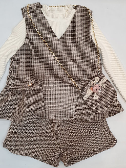 Girls Three Piece Woolen Set