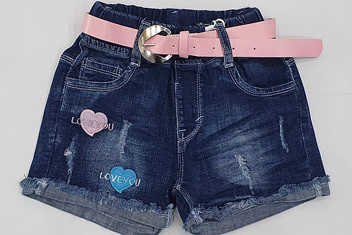 Girls Denim Half Pants