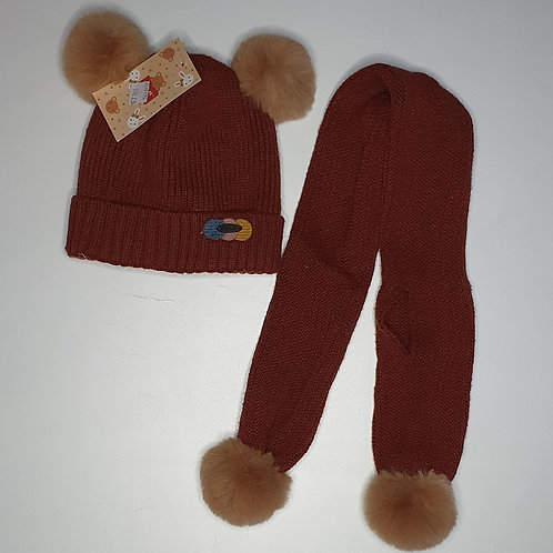 Cap & Muffler Set (With Inner Fur- Age 6 months -2 Years)