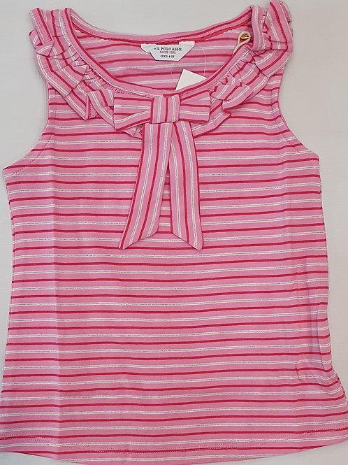 U.S Polo ASSN. Girls Striperd Sleeveless Tshirt