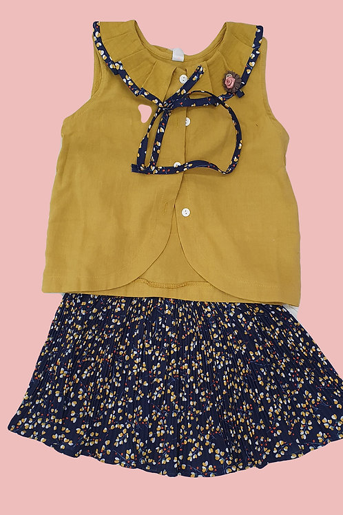 Girls Top and Skirt set