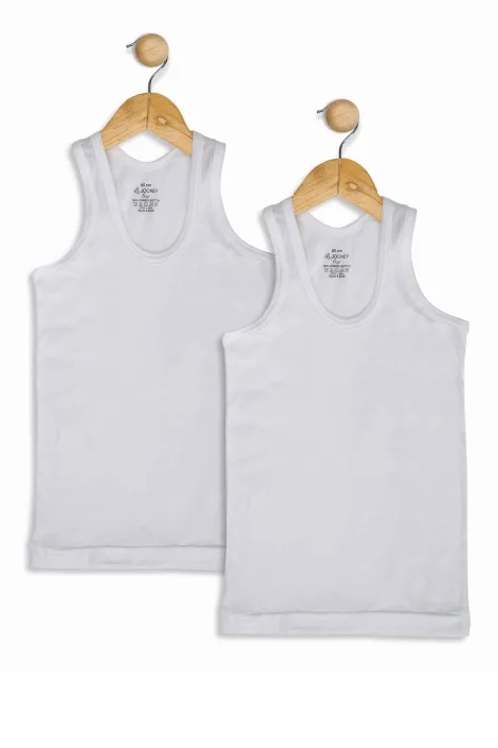 Boys Jockey Branded Vest (2 Pc Pack )