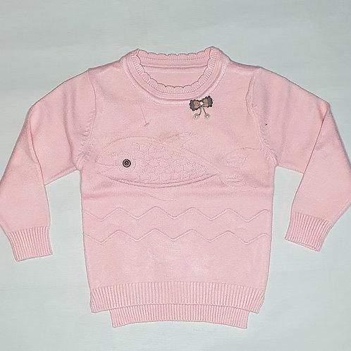 Girls Round Neck Sweater