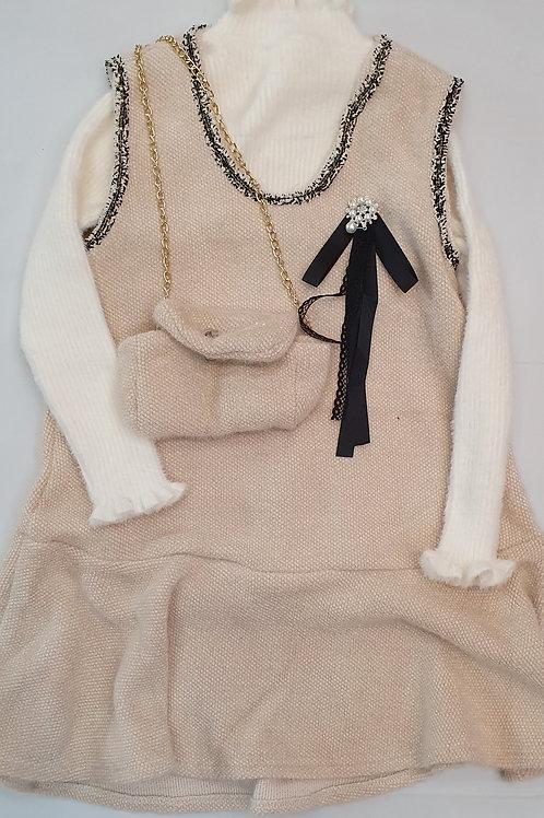 Girls woollen frock with sweater