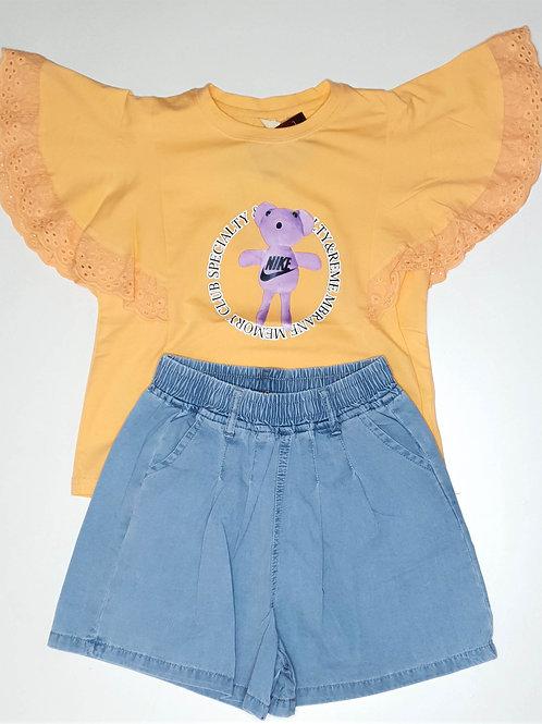 Girls T.Shirt and Half Pant Set