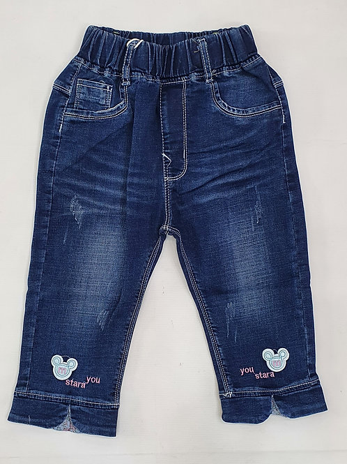 Girls Denim Quarter Pants