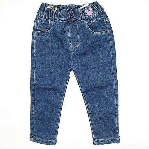 Girls Denim Pants (Thick with inner lining)