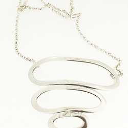 Silver looped pendant