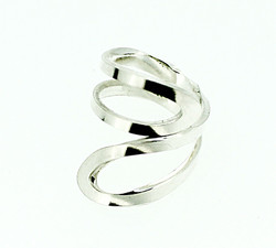 Silver winding ring